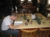 Gerry beim Studium des neuen Necron-Codex