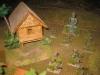 Dorf mit Buddha-Statue