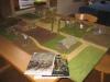 09,00 Uhr, Aufbau: der Lily-Banners-Tisch (El Cid)