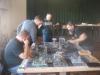 Würfelknechte 1 vs. Blau-Weiße Strategen in voller Aktion