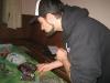 Pascal platziert seine Panzer fast liebevoll