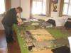 Samstag, 08.30 Uhr - der Aufbau beginnt: General de Brigade (Fels)