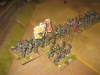 Das steirische Landregiment und die Grenadiere (Schlendriane) halten dagegen
