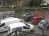 Der Parkplatz ist noch immer voll