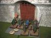 Die spanischen Krieger verstärken die Torwache