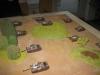 Die Tanks rücken vor, begleitet von den Stormoviks