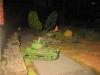 Die britischen Tanks rücken langsam unter Beschuss vor