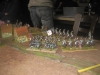 Die Sachsen entwickeln ihre Truppen nahe Aderklaa
