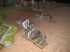Die Preussen-Bataillone an der rechten Flanke rücken zügig vor