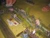 17:55 Uhr: Nun überqueren die Sachsen den Russbach auf breiter Front