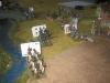 Alle Bataillone nahe dem Zentrum gehen über den Russbach, greifen die Sachsen an