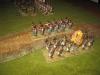 Die österreichische Infanterie marschiert an