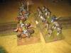 Die Husaren attackieren die Linieninfanterie von hinten
