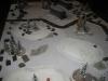 Blick über das Schlachtfeld im Morgengrauen