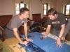 Stefan und Johannes zählen die Würfel nochmal durch