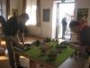 09.00 Uhr: Chevalier und Sisyphus bauen den SAGA-Tisch auf