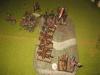 Der Moment der Entscheidung: der Normanne fällt durch den Gaelen - den Spaniern bleibt der Hügel