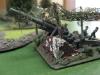 Gut getarnte Deutsche Artillerie