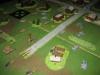 Die deutschen Panzer drücken gegen das Dorf