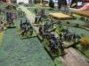 Die Artillerieposition am Ende der Kolonne