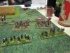 Mizners Kavallerie sitzt ab und greift die Südstaatler an