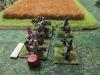 Die konföderierte Kavallerie überreitet die Plänkler der Union