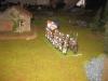 Französische Infanterie (Khornosaurus) am Gehöft