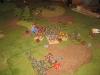 Kavallerieattacke im Zentrum