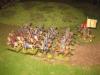 Die schwedische leichte Reiterei eilt zum Entsatz