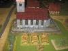 Die Flakpanzer in Stellung hinter der Kirche