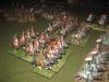 Die französische leichte Kavallerie - Division am rechten Flügel