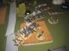 Die preußische Batterie im Zentrum teilt weiter aus