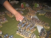 Im Zentrum drücken die Preußen gegen die französischen Linien