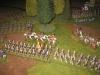 Die Preußen formieren ihre großen Angriffsblöcke