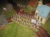 Das preußische Grenadier-Doppel-Bataillon deployiert um