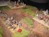 Die schottische Artillerie schießt sich ein
