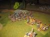 Die Infanterie Legere beschießt die österreichische Batterie aus der Flanke