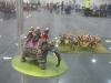 Gepanzerter Elefant und indische Infanterie
