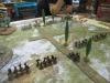 Die Schlachtlinien beginnen mit Drohungen und Kriegsgesängen
