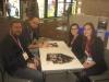 Am Games Workshop-Stand: Lord Goas, Kharnath, Jasmin und unsere Kundenbetreuerin Julia