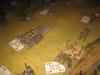Die österreichische Artillerie beharkt die Vorposten der Bayern