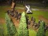 Das schwarze Regiment der Schotten erobert den Wald