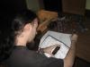 Stefan bei der Apo-Vorbereitung