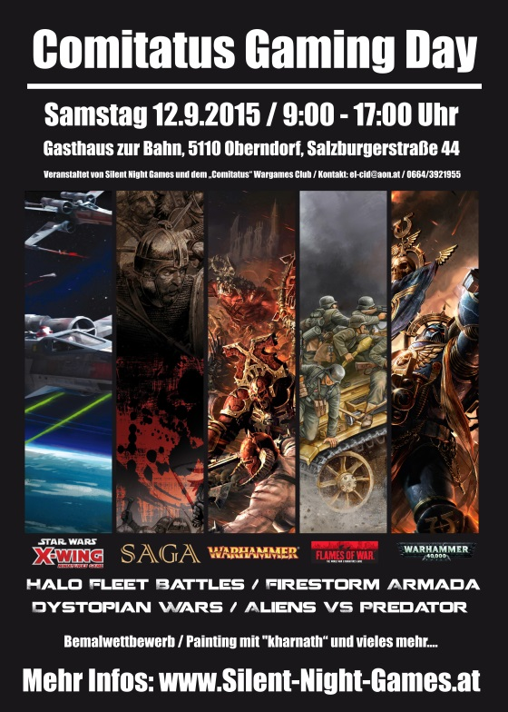 2. Comitatus Gaming Day am 12.09.2015